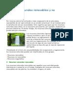 Recursos Naturales Renovables y No Renovables P.3