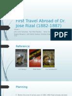 Rizal's 1st Voyage