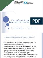 Reunion Informativa Programas de Movilidad Estudiantil Marzo 2015