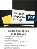 Elementos de Exposición y Artículo