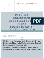 Sand Fillter and Pereouse Filter