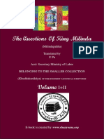 742. Questions of King Milinda
