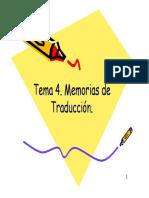 Memorias de Traducción
