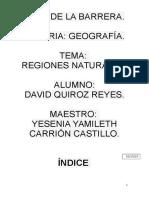 regiones naturales de mexico