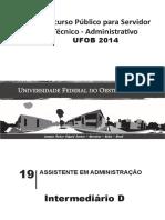 Ufob - Prova - Assistente Administrativo