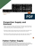 Ekmin Supply Demand, Pasar