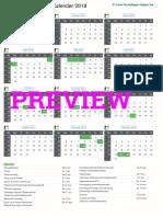 Kalender 2018 a4 Staand Feestdagen Preview