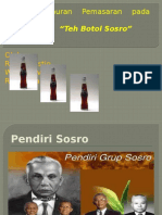 """Bauran Pemasaran """"Teh Botol Sosro"""".pptx"""