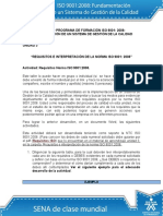 Taller Unidad 3ACTIVIDAD PROGRAMA DE FORMACIÓN ISO 9001