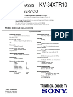 Sony KV-34XTR10 - Chasis AA2D _ Manual de Servicio