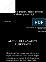 Consumul de Alcool Tutun Si Droguri La Varsta Pubertatii