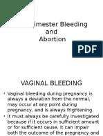 First Trimester Bleeding Report