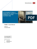 Procedimiento Para La Insercion Del Equipo Cisco ASR9000 en Cluster Existente 7609