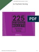 225 Nursing Bullets_ Psychiatric Nursing Reviewer