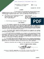 Bank Melli OFAC license