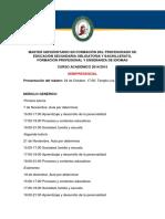 Calendario Semipresencial 2014 2015
