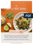 Free ShopHouse On Tuesdays