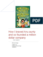 How I braved anu aunty and co-founded a million dollar company - A book review