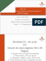 Aula 04 - #Fayol e a escola do processo de administração + ATPS 2ª etapa01 - PDF