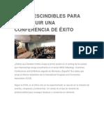 13 IMPRESCINDIBLES PARA CONSEGUIR UNA CONFERENCIA DE ÉXITO.docx