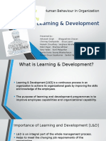 Human Behaviour in Organization - Learning & Development