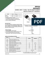 I R F  630  , 1diodo ,   9A  ,  600V ,  Mosfet.pdf