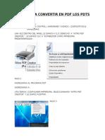 Pasos Para Convertir en PDF Los PDTs