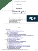 Nahuel Moreno - Lógica Marxista y Ciencias Modernas