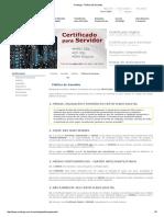 Política de Garantia - Certificado Digital