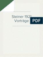 Steiner 1921 Vorträge