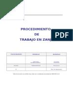 Procedimientos en Zanja (2)