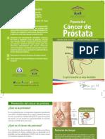 Brochure sobre prevención del Cáncer de Próstata