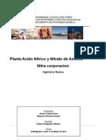Ingeniería basica de planta de nitrato de amono