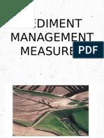 Sediment Management Measures