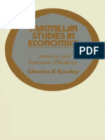 (Macmillan Studies in Economics) Charles K. Rowley (Auth.)-Antitrust and Economic Efficiency-Macmillan Education UK (1973)