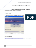 ANCOM.en0010 How to Get Communication Working Between the Relay and VAMPSET