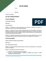 Ley N 24029 - Su Reglamento y Su Modificatoria Ley N 25212