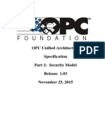 OPC UA Part 2 - Security Model 1.03 Specification