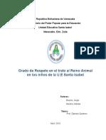 Tesis Grado de Respeto en El Trato Al Reino Animal en Los Niños de La U.E.S.I