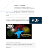 14 de Septiembre Aniversario de Cochabamba