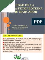 Utilidad de La Alfa-fetoproteina Como Marcador