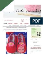 Cómo Hacer Zapatos Tejidos Al Crochet Paso a Paso _ Todo Crochet
