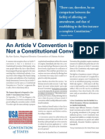 What is an Article V Convention?