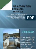2.4 Diseño canal Parshall