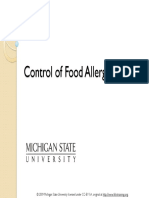 Control of Food Allergens