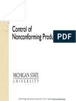Control of Non-Conforming Product