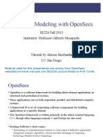 Nonlinear Modeling With OpenSees