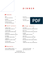 Rouge Tomate Chelsea Dinner Menu September 2016