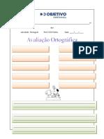avaliação ortográfica