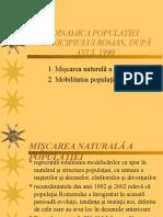 Dinamica Populatiei Municipiului Roman Dup 258 Anul 1990